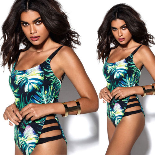 Women One-piece Swimsuit Swimwear Push Up Monokini Bathing Suit Bikini Beachwear