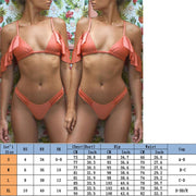 Women Padded Bikini Summer New Sexy Cold Shoulder Bikini Set Bandeau Bandage Swimwear Brazilian Beachwear Swimsuit Bathing Suits