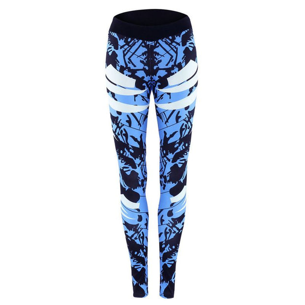 Women Sports Yoga Pants 3D Printed Jogging Gym Running Tights Exercise Female Fitness Sportwear Trousers Legging