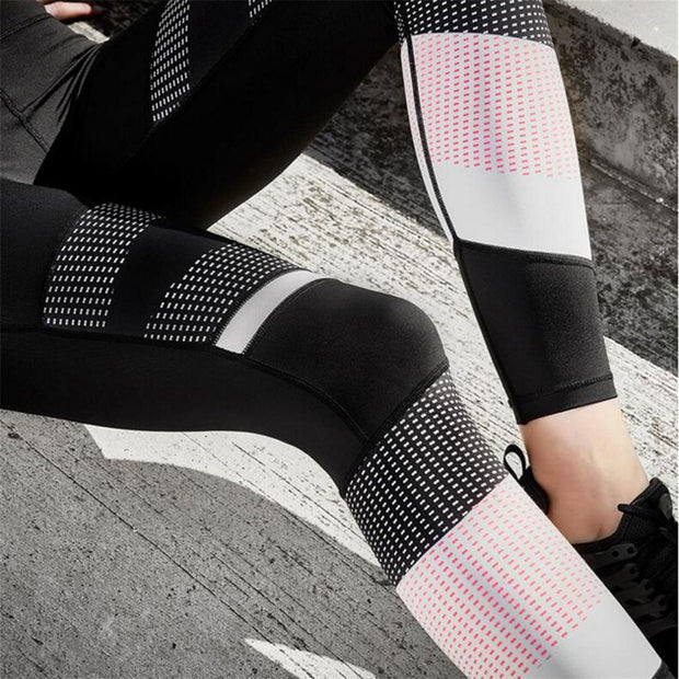 Women Yoga Leggings Polyester Gothic Fitness Gym High Waist Leggings Stretch Slim Casual Fitness Sport Workout Pants Trousers