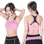 Women Yoga Sports Bras Candy Color Fitness Workout Gym Racerback Activewear Bra BB55