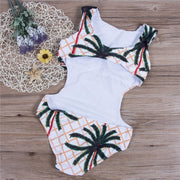 Women Mokini 2018 Womens Halter Push Up One Piece Swimwear Print Sexy Swimsuit Beachwear