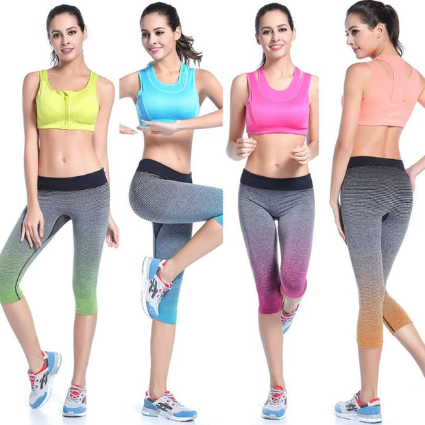 Womens Sexy Yoga Gym/Fitness/Workout Sport Cropped Pants Leggings Trouser M LHot