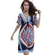 Womens V-Neck Cut Loose Bathing Suit Swimsuit Cover Ups Beach Dress Sexy Polyester New Beachwear For Summe C0620*30