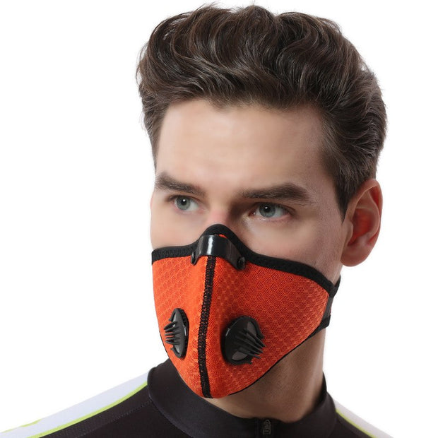 XINTOWN Men/Women Activated Carbon Dustproof Cycling Face Mask Mesh Yarn Cycling Bicycle Bike Outdoor Mask Face Shield