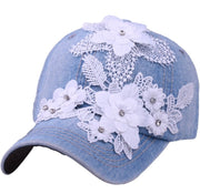 YOUYEDIAN Women Men Adjustable Letter Rhinestone Denim Baseball Mesh Cap Hat Casquette Hip Hop Enfant Lady Caps