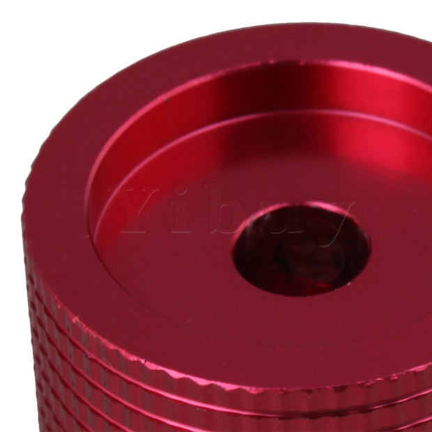 Yibuy 25x15.5MM Red Full Aluminum Pineapple Lattice Dome Potentiometer Knobs For 6mm Diameter Shaft Pack Of 2
