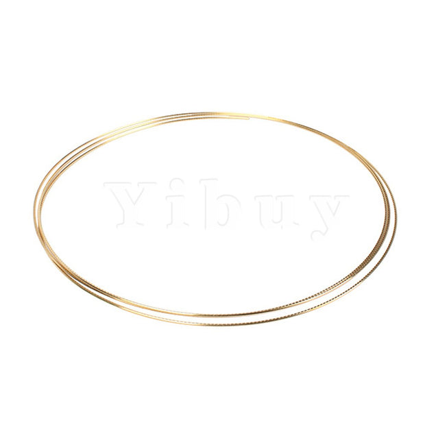 Yibuy GOLDEN 8F GUITAR FRETWIRE FOR ACOUSTIC GUITAR 2.3MM WIDTH BRASS