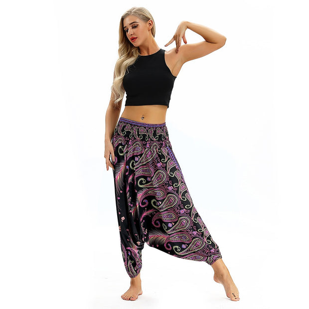 Yoga Pants Push Up Women Loose Yoga Trousers Baggy Aladdin Jumpsuit Harem Pants Ladies Sports Wear Ropa Deportiva Mujer Gym