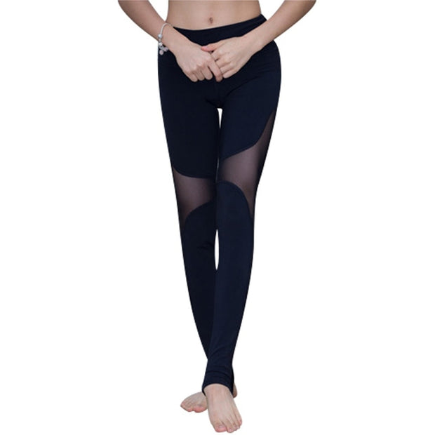 Yoga Sports Leggings For Women Sports Tight Mesh Yoga Leggings Comprehension Yoga Pants Women Running Tights Leggings J2