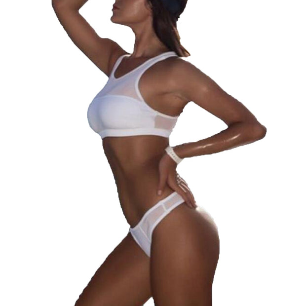 Bikinis 2019 Mujer Women Sexy Sport Push-Up Padded Bra Beach Halter Bikini Set Swimsuit Swimwear Bathing Suit Women Biquini
