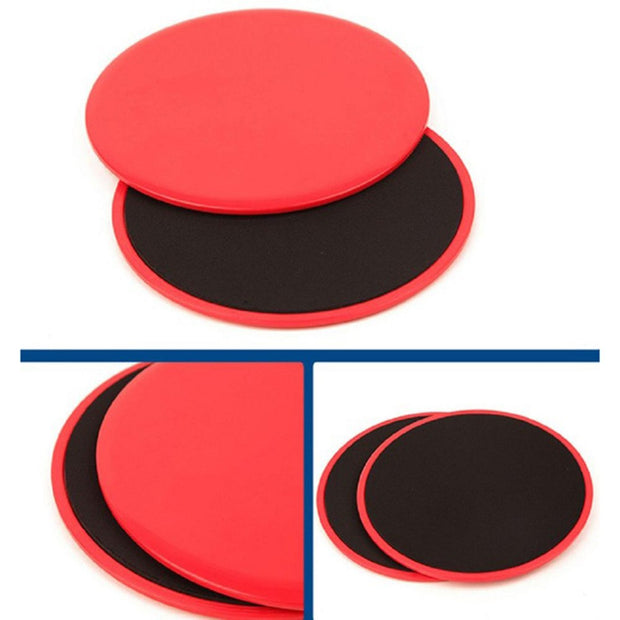 Hewolf 1 Pair Sport Workout Gliding Slide Discs Gym Slider Double-Sided Fitness Disc Exercise Cross Training Abdominal Workout
