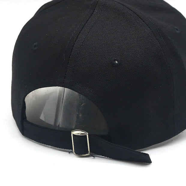 High Quality Blond Embroidery Baseball Cap For Women Men Hip Hop Snapback Hats Cotton Adjustable Black Dad Hat Wholesale