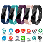 Outdoor Running Waterproof ID115/ ID115 Plus Pedometer Step Counter Bracelet Wristband Heart Rate Tracker Remote LCD Pedometer