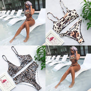 Swimming Suit For Women Leopard Print Bikini Set Push-up Swimwear Beach Bathing Swimsuit