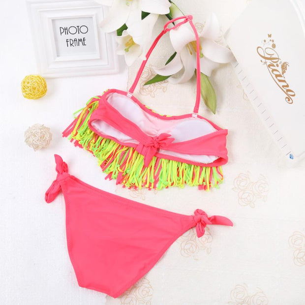 Swimsuit Baby Girls Summer Swimwear Swim Suit Tassel Kids Swimsuit Biquinis