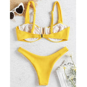 Swimsuit Fused Women Bandage Bikini Set Push-Up Brazilian Swimwear Beachwear Swimsuit Biquinis Feminino 2019 Bathing Suit Women