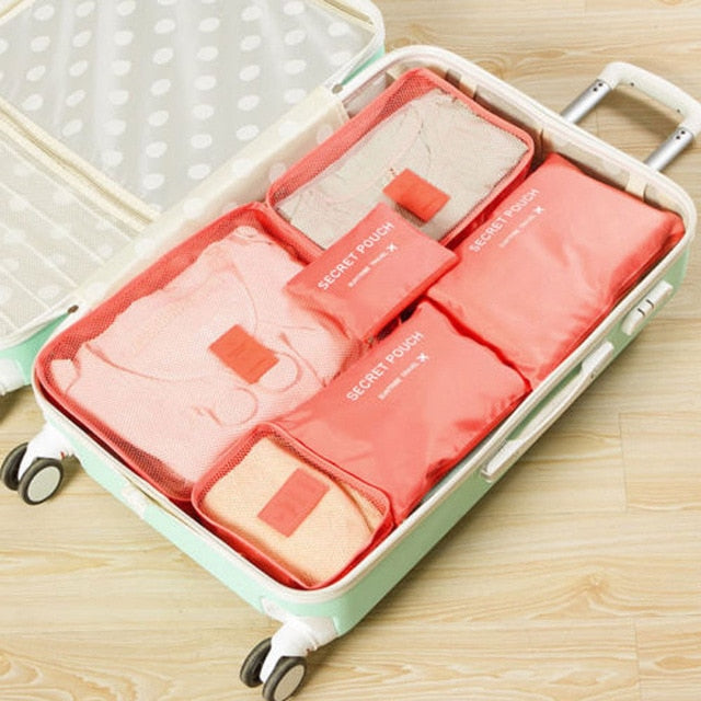 6Pcs Waterproof Travel Clothes Storage
