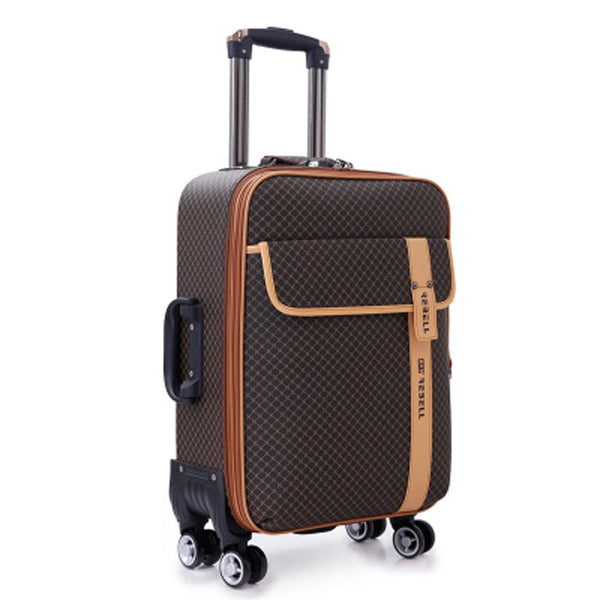 Luxury PU Rolling Luggage