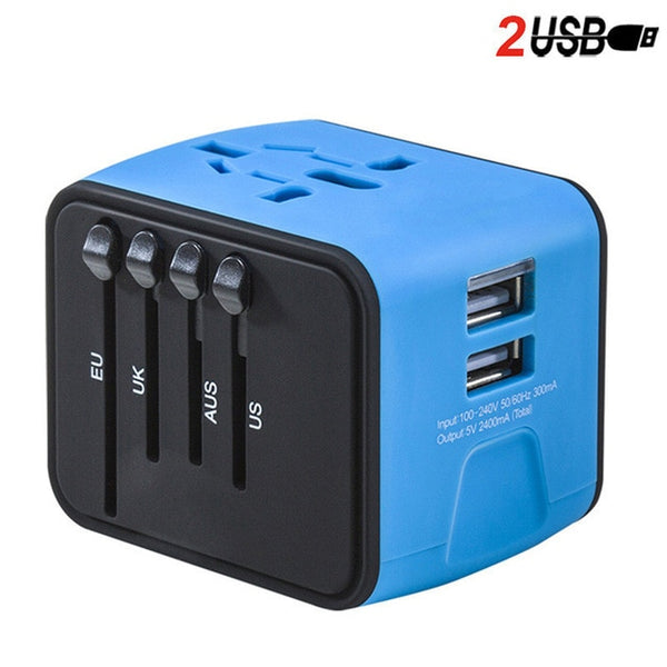 Travel Adapter with Dual USB