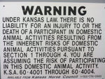 Kansas Liability Signs Metal by KHC