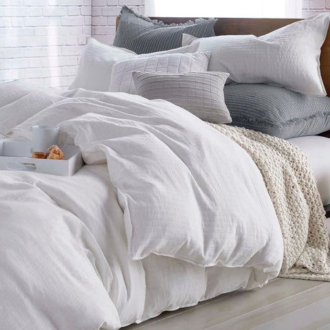 DKNY Pure Comfy Duvet Cover with Chunky Knit Throw and Pillows
