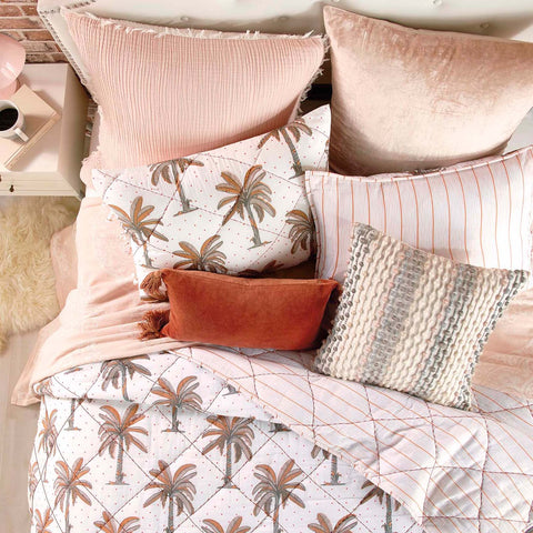 Peri Home Pink Palm Tree Quilt