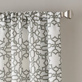 Lotus Harmony Poletop Window Curtain Panel Charcoal