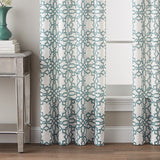 Lotus Harmony Poletop Window Curtain Panel Seafoam
