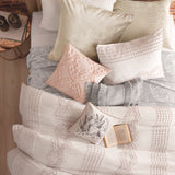 Peri Home Cut Geo Comforter Bedding Collection lilac