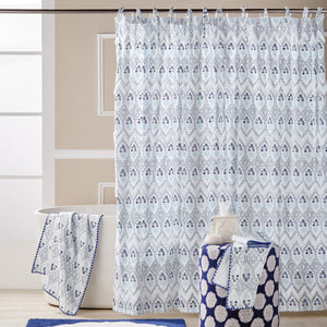 John Robshaw Sahasa Shower Curtain Collection Blue