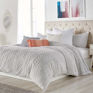 Peri Home Cozy Sherpa Braid Comforter Bedding Collection