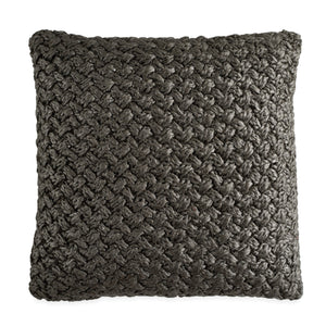 Michael Aram Metallic Knit Decorative Pillow Charcoal