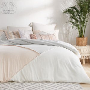 Peri Home Colorblock Fringe Comforter Set