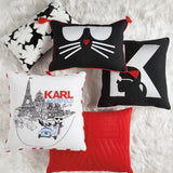 Karl Lagerfeld Paris Quilted Bow Decorative Pillow