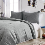 Dream Factory Star Plush Comforter Set