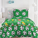 Dream Factory Soccer Field Bed in A Bag Comforter Set