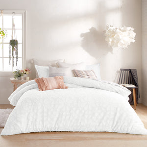 Peri Home Clipped Floral Comforter Set White