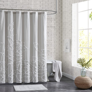 Peri Home Chenille Rose Shower Curtain