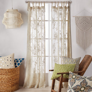 John Robshaw Pasak Linen Window Curtain Panel