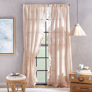 Peri Home Arabella Poletop Window Curtain Panel blush
