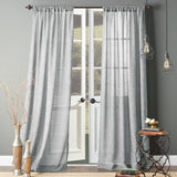 Bedeck Melabar Window Curtain Panel Grey