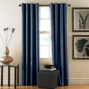 Curtainworks Monterey Window Curtain Panel Indigo