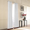 Curtainworks Messina Grommet Window Curtain Panel White