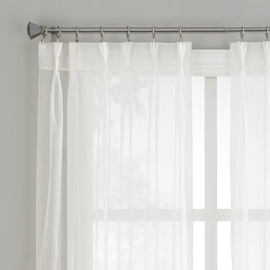 Curtainworks Soho Voile Pinch Pleat Window Curtain Panel White