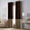 Curtainworks Kendall Grommet Window Curtain Panel Chocolate