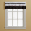 Curtainworks Jayden Valance Black
