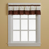 Curtainworks Jayden Valance Chocolate