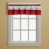 Curtainworks Jayden Valance Red