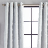 Calista Microsculpt Window Curtain Panel Grey